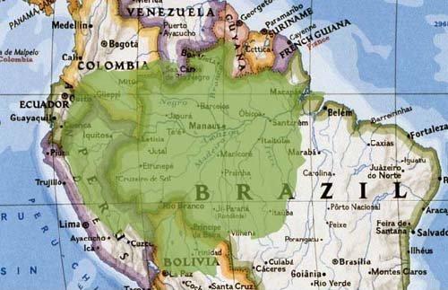 Где находиться на карте амазонка