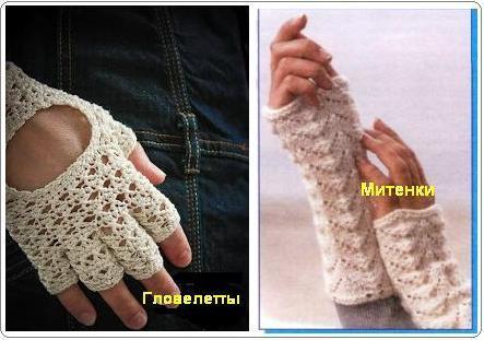 Ответы@Mail.Ru: хочу связать гловелетты. только не митенки а гловелетты, те у которых пальцы отдельно. подскажите схему вязания.