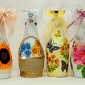 Декупаж бутылок и ваз для цветов