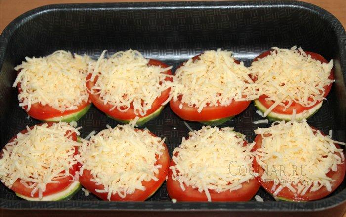Кабачки с фаршем помидорами и сыром в духовке рецепт с пошаговый
