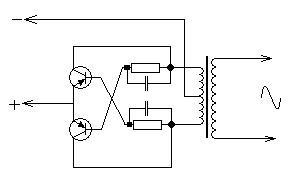 Схема трансформатора постоянного тока 12в