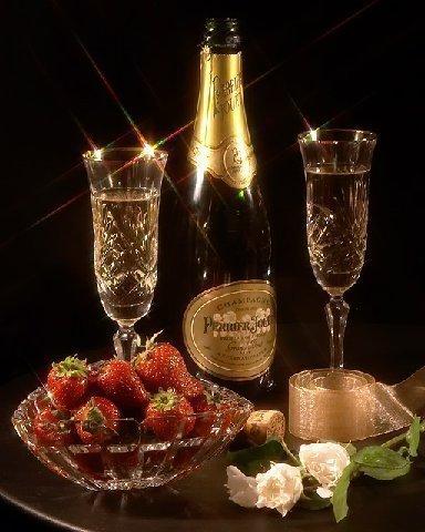 Бокал с шампанским открытка 63