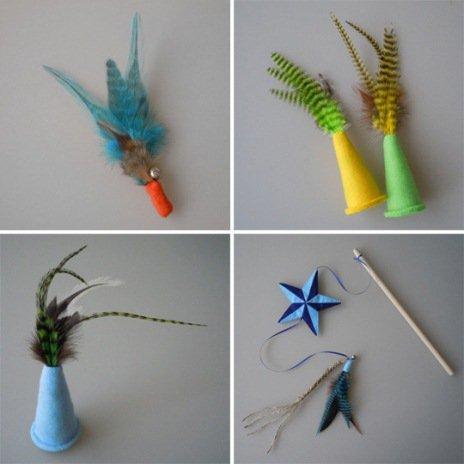 Игрушки для кошек из бумаги