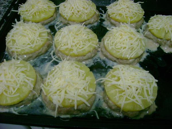 Медальоны с ананасом рецепт с фото