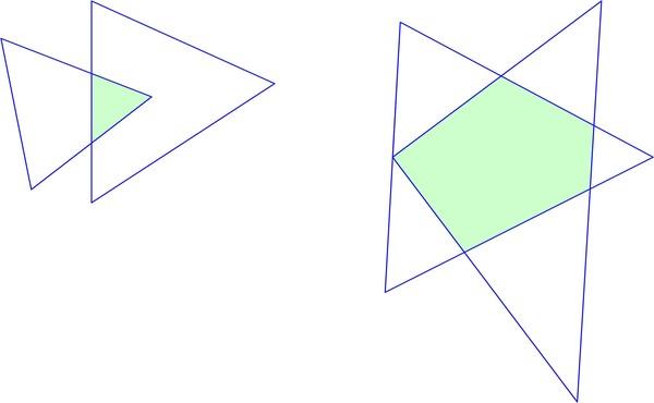Как из двух треугольников сделать четырехугольник