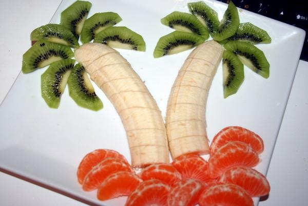 Как сделать фруктовый салат с бананами