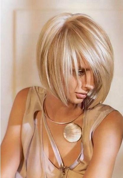 Блондинка стрижки и окраска