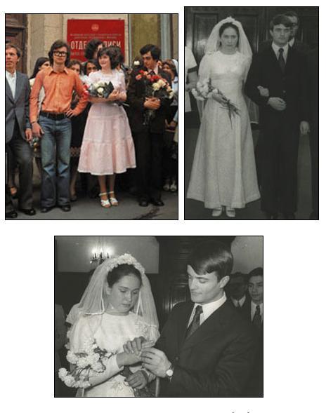 Свадебные платья советских времен