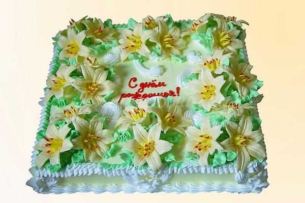 Открытки праздничный торт