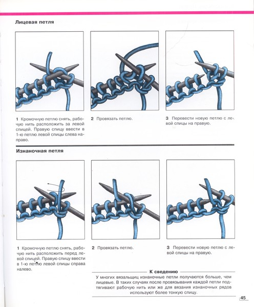 Как вязать кромочную изнаночную петлю