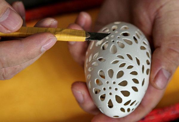 Резьба по скорлупе яичной в домашних условиях