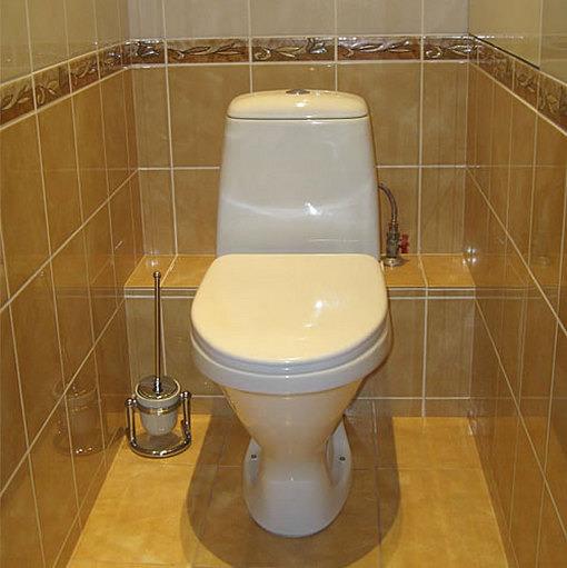 Туалет в квартире своими руками фото