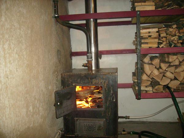 Отопление гаража своими руками дровами