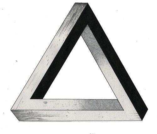 Эскиз тату треугольник