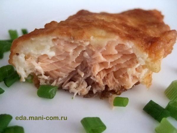 Рыба в кляре горбуша пошаговый рецепт с фото
