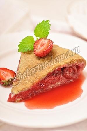 Рецепт постный пирог с клубникой рецепт с
