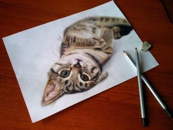 как нарисовать 3d рисунок:
