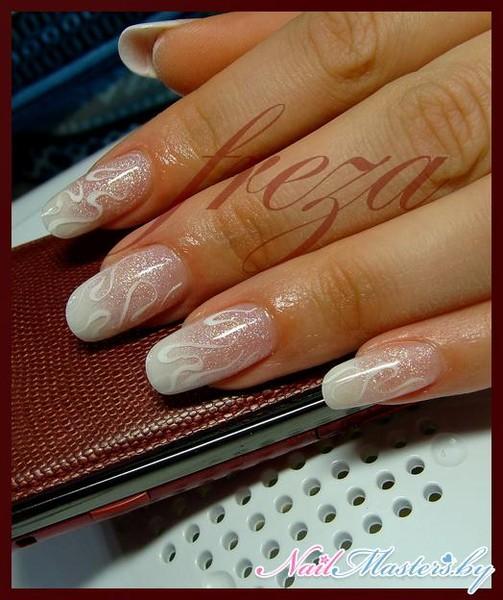 Ногти пастельные тона френч