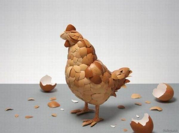 Поделки из куриных яиц фото