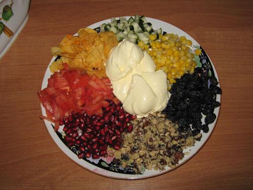 Салат кучками радуга рецепты