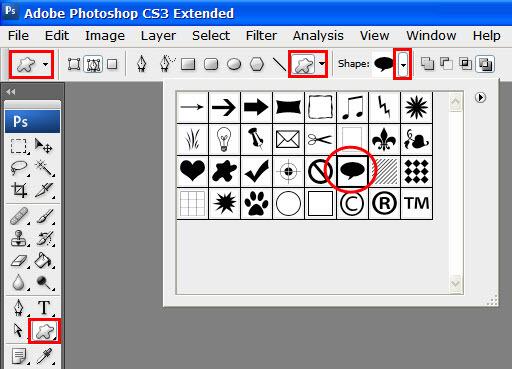 Как в фотошопе сделать облако с текстом