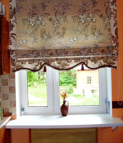 Римские шторы для кухни сшить своими руками