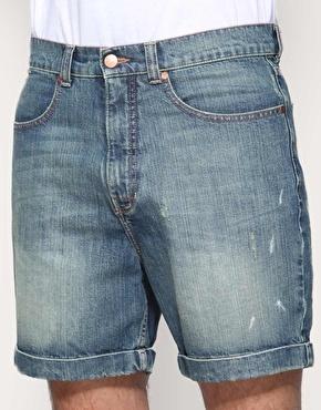 Как сшить из старых джинс шорты с подворотом 58
