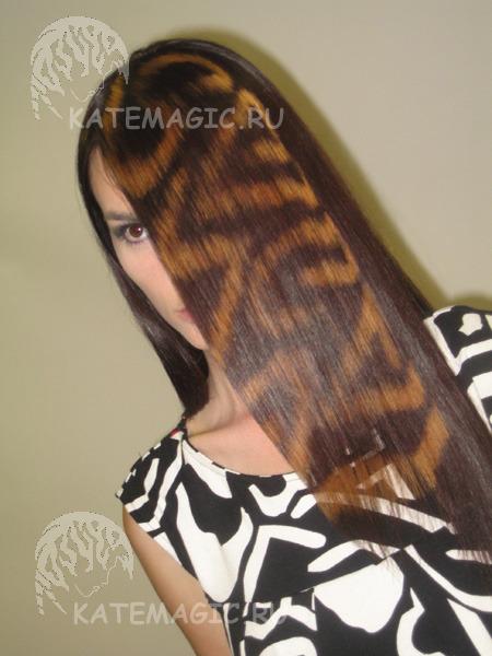 Как сделать круг на волосах