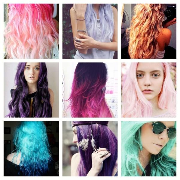 Разные цвета для волос