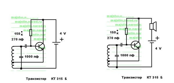 Простейший металлоискатель своими руками на одном транзисторе