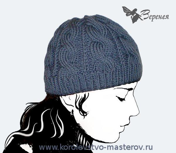 Вязание женской шапки спицами шапка с косами