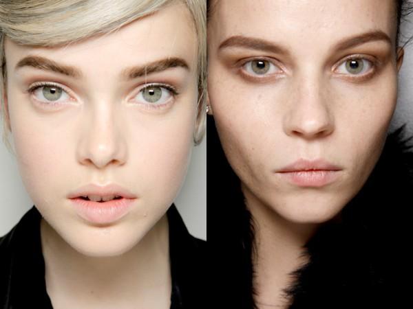Брови высоко подняты макияж