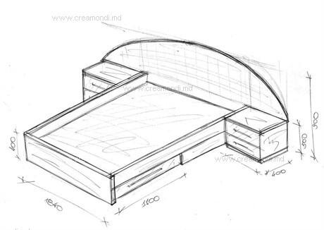 Кровать двуспальная своими руками чертежи фото