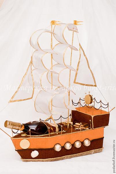 Подарок корабль с конфетами своими руками