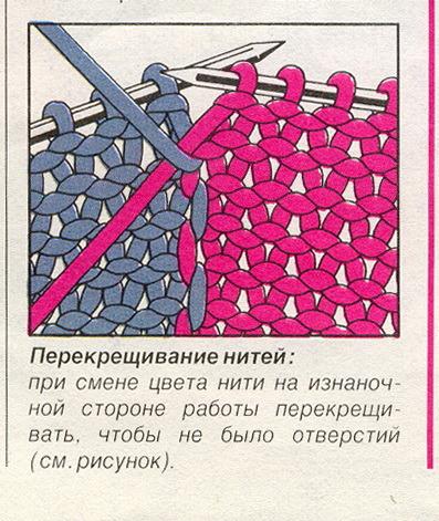 Вязание соединить два цвета