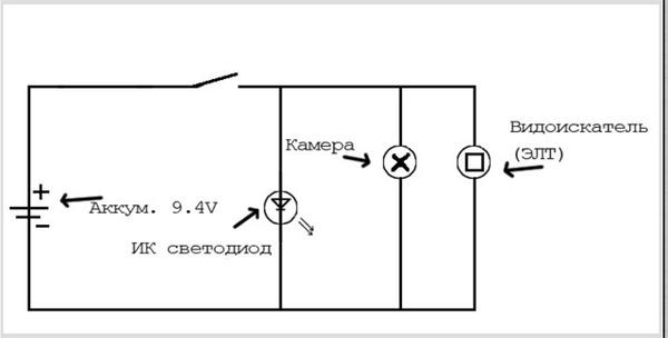 Схема для инфракрасного диода