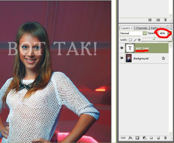 Как сделать шрифт прозрачным в фотошоп