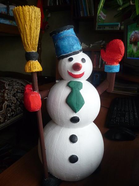 Поделки снеговика своими руками из шаров