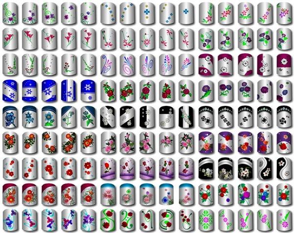 Легкие рисунки на ногтях детей