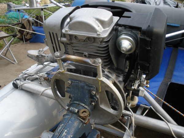 мотор из лодки на мопед