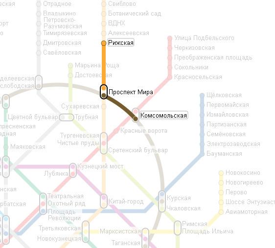 Карта маршрутов транспорта Москвы