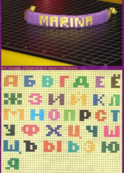Фенечки с именами прямым плетением схемы