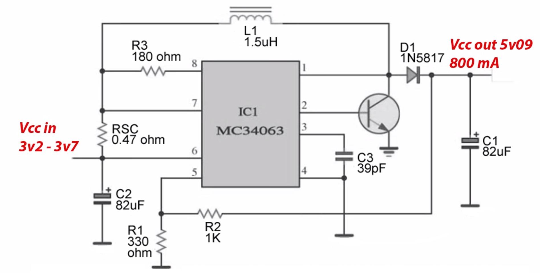 Импульсный преобразователь тока схема