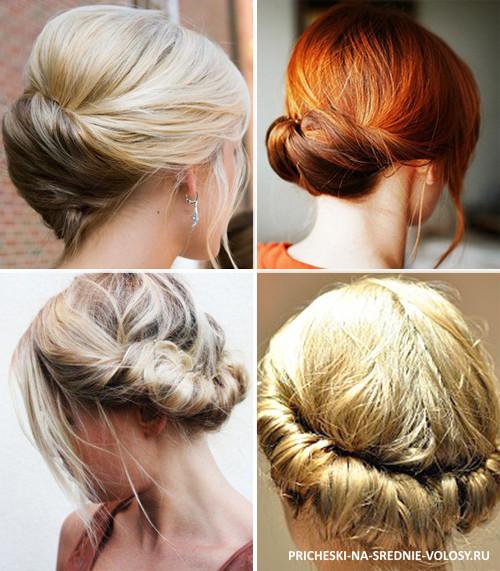Причёска на волосы средней длины на каждый день своими руками