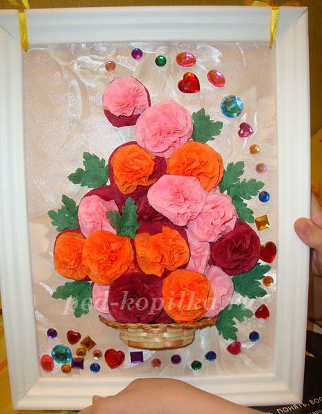 Цветы в начальной школе своими руками