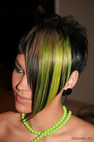Окраска волос при ассиметричной стрижке