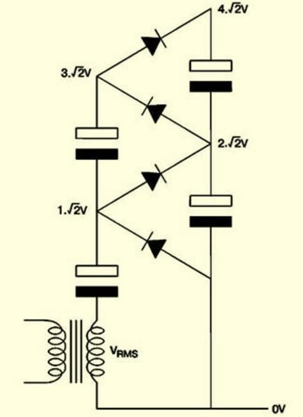 Умножитель напряжения на диодах и конденсаторах своими руками 85