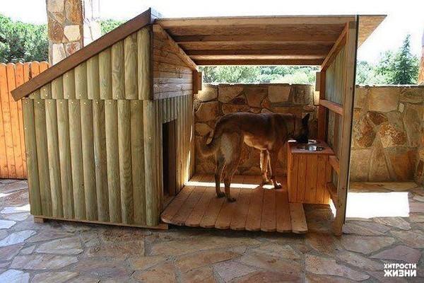 Фото будок для собак своими руками