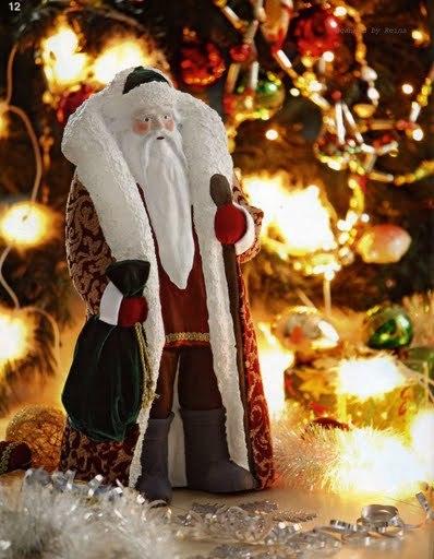 Большой дед мороз под елку своими руками