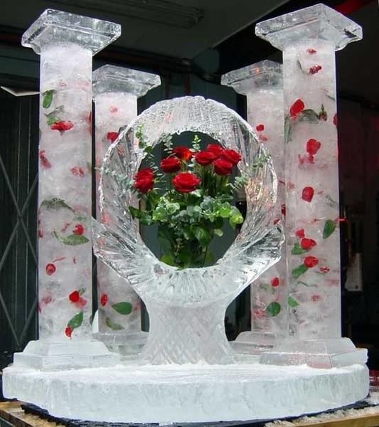 Цветы из снега своими руками
